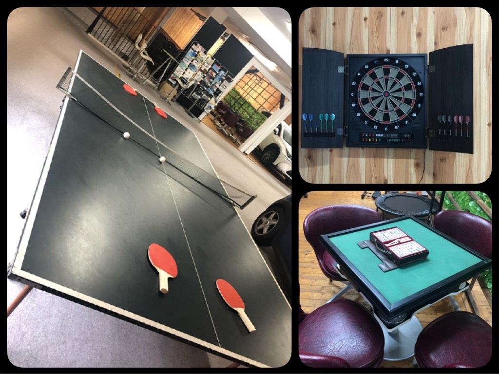 2Fには卓球,麻雀,ダーツ,スペースがあります!